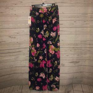 Gianni Bini Blossom Wide Leg Floral Pants Medium